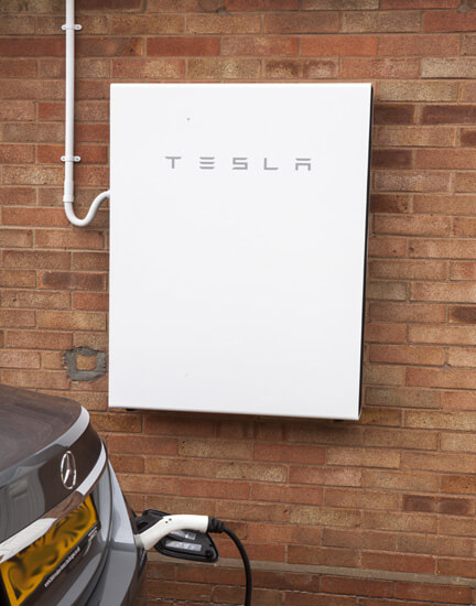 Tesla, powerwall, wall-mounted