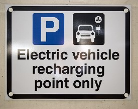 Electric Vehicle charging sign, Southampton