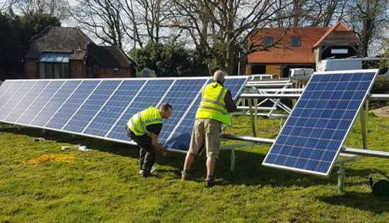 ground mount solar, installation,