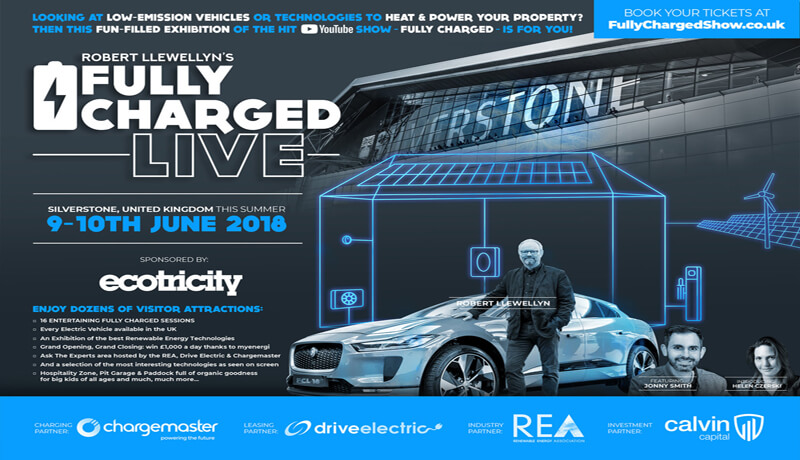 Fully Charged Live, Robert Llewellyn, Jonny Smith, Helen Czerski, Silverstone