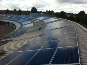 Orchard Fields, Oxfordshire, solar panels