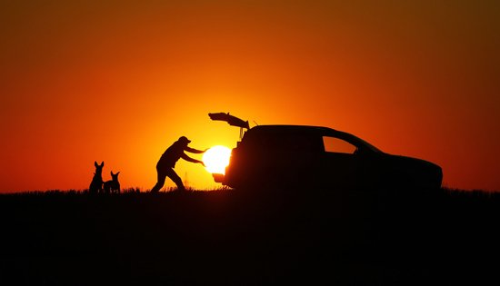 Run your car on sunshine, run your car on solar, sunshine, solar, sunset, car, vehicle, steal the sun
