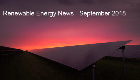 Renewable ENergy News, September 2018
