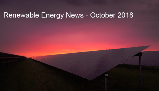 Renewable Energy, News, October, 2018