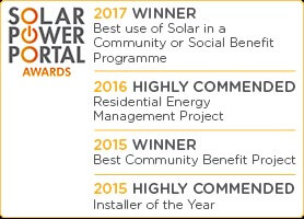 Solar Power Portal Awards, winners, community benefit, Installer of the Year, Community Energy England