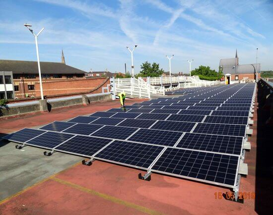 Rotherham, Metropolitan, Borough, Council, Wellgate, car park, solar PV