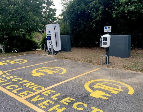 Bitterne, rapid charger, taxi, fast charger, bay markings, ev only