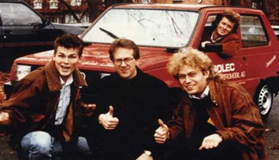 Morten, Harket, Aha, electric car, EV, Bellona, 1980s