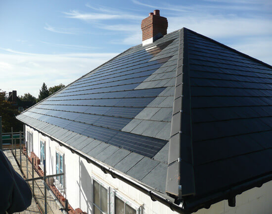 solar roof tiles, integrated solar, BIPV, ThamesWey