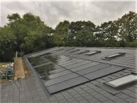 in-roof, solar in-roof, in roof, integrated solar, integrated solar roof, pitched roof