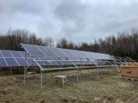 ground solar, ground mount, raised solar, standing solar