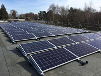 South Facing, Solar Install, Solar panels, Flat roof, South