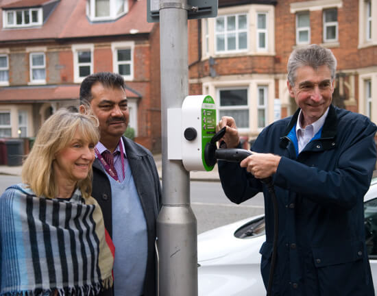 Councillor Tony PAge, Reading Borough Council, CIty EV, Cityline100, lamppost charger
