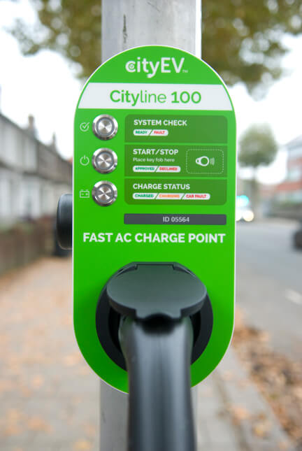 City EV, Cityline100, RFID access, lamp post