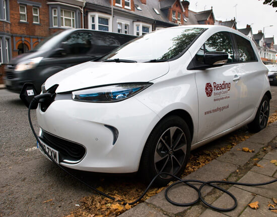 Reading Borough Council, electric car
