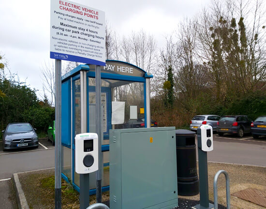 Test Valley, Alma Road, charge point, signage, EV