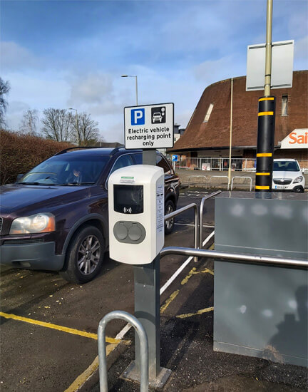 Test VAlley, Borden Gate, Sainsburys, funded charge point