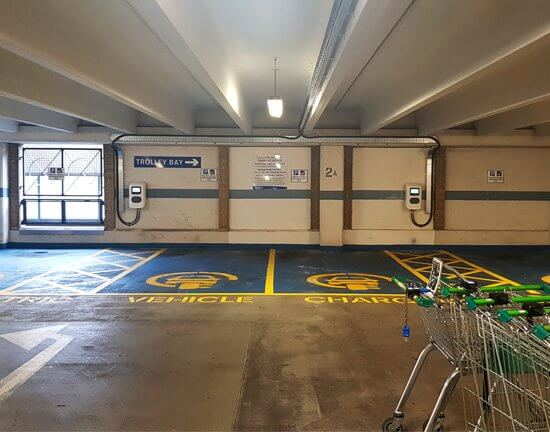 Test Valley, Chantry Centre, car park, EV charge point, Test Valley, fully funded