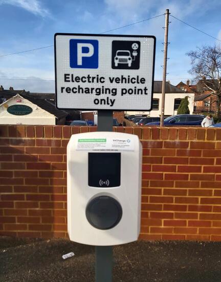 ALfen, Test Valley, electric car charging, George Yard