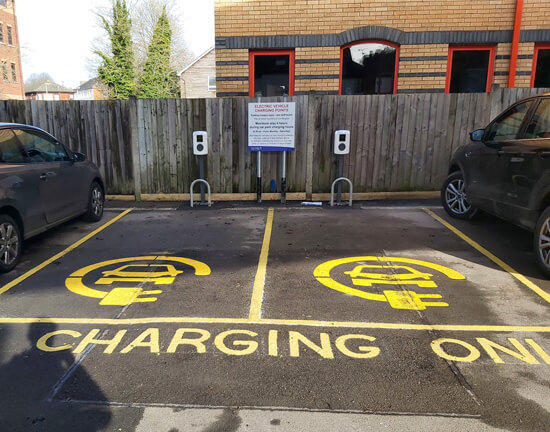 Test Valley, South Street, Charge point, bay marking, funded charge points