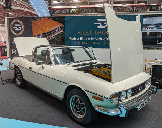 Triumph, Stag, electric, battery