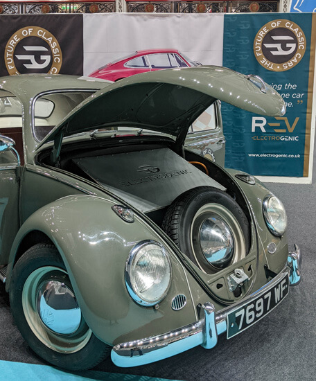 VW beetle, classic car, battery power, electrogenic