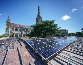 Salisbury Cathedral, solar, spire