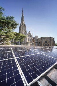 Salisbury Cathedral, solar, spire, Sunpower