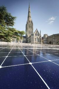 Salisbury Cathedral, solar, spire, Sunpower, Joju Solar