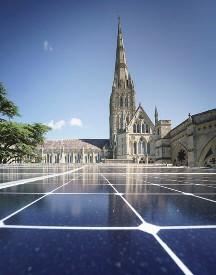Salisbury Cathedral, solar, Joju Solar, Sunpower