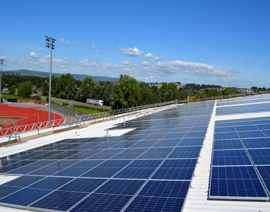 Egni Coop, Graint Thomas Velodrome, Newport Councl, largest solar roof in Wales,