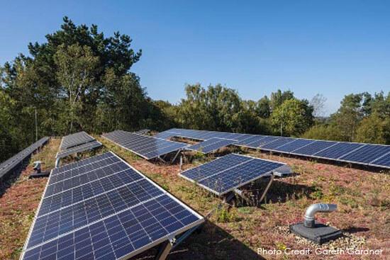 Noah's Ark, Hospice, BArnet, Green Roof, Bauder, solar panels