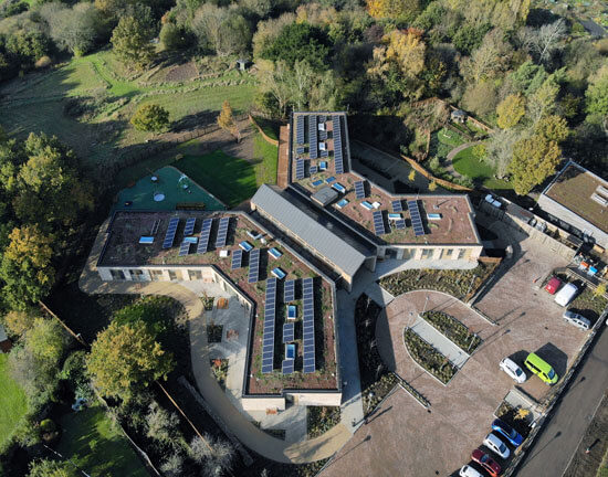 Noah'sArk, Green roof, biosolar, aerial, BArnet