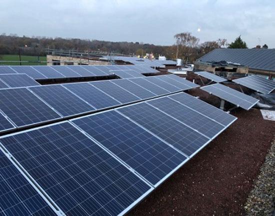 Noah's Ark, BAuder, Biosolar, solar panels, green rof, installation