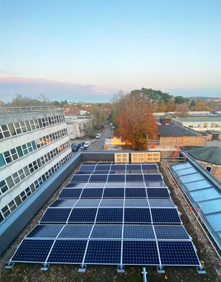 Oxford Brookes, solar panels, Salix finance, SunPower