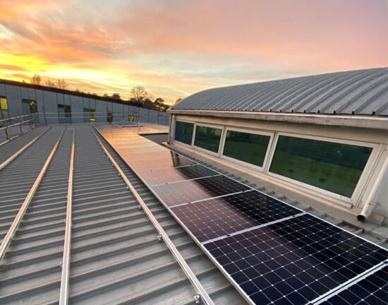 Oxford Brookes, Sunset, Solar PAnels, Salix Finance