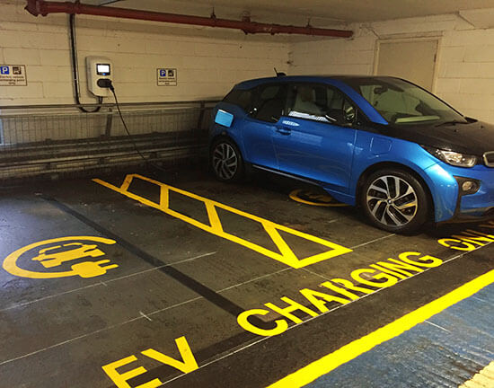 Winchester, fast EV charger, multistorey