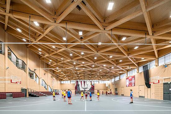 St George's, Sports Centre, Scott Brown Rigg, glulam