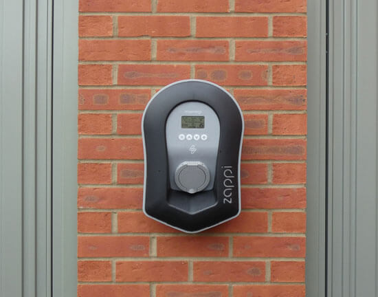 Zappi, ev charger, version 2, brickwork