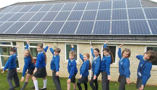 Middle BArton School, Low CArbon Hub, Community Energy, soalr schools