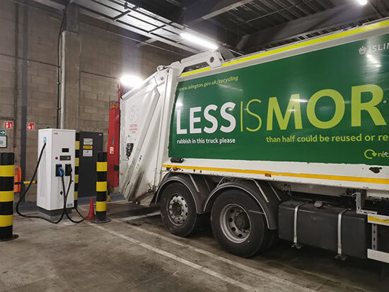 Islington Council, Electric Waste collection, rapid charger