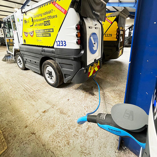 Southampton, road sweeper, waste, charging, electric